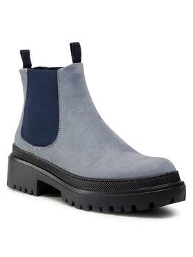 Pollini Pollini Kotníková obuv s elastickým prvkem SA21204G0BTN0701 Modrá