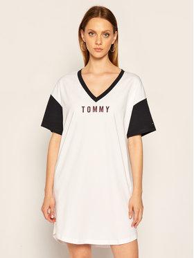 TOMMY HILFIGER TOMMY HILFIGER Noční košile UW0UW02577 Bílá Regular Fit