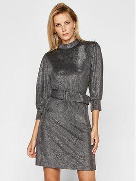 Marella Marella Koktejlové šaty Nadar1 36260406 Stříbrná Regular Fit