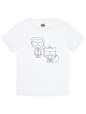 KARL LAGERFELD KARL LAGERFELD T-shirt Z25273 D Blanc Regular Fit