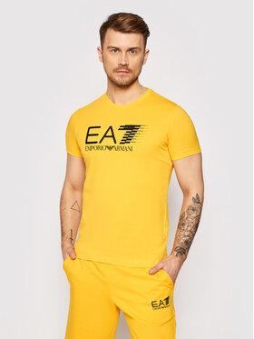 EA7 Emporio Armani EA7 Emporio Armani Marškinėliai 3KPT39 PJ02Z 1604 Geltona Regular Fit