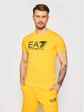 EA7 Emporio Armani EA7 Emporio Armani Тишърт 3KPT39 PJ02Z 1604 Жълт Regular Fit