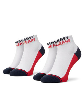Tommy Jeans Tommy Jeans Unisex trumpų kojinių komplektas (2 poros) 100000399 Balta