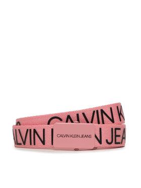 Calvin Klein Jeans Calvin Klein Jeans Dámsky opasok Canvas Logo Belt IU0IU00125 Ružová