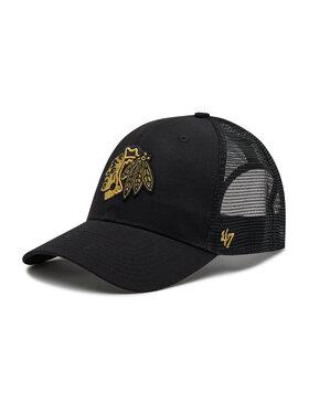 47 Brand 47 Brand Шапка с козирка Chicago Blackhawks H-BRMTL04CTP-BK Черен