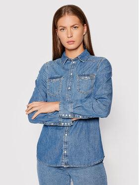 Pepe Jeans Pepe Jeans Τζιν πουκάμισο Rhonda PL303876 Μπλε Regular Fit