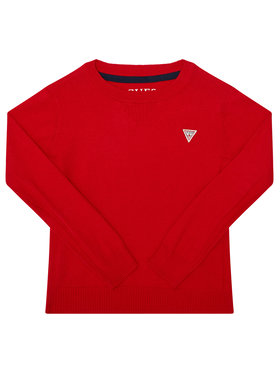 Guess Guess Megztinis N0YR04 Z1DC0 Raudona Regular Fit