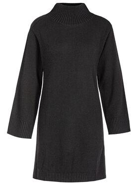 My Twin Úpletové šaty 192MT3042 Čierna Regular Fit