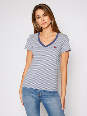 Levi's® Levi's® Tričko The Perfect V Neck 85341-0021 Modrá Regular Fit