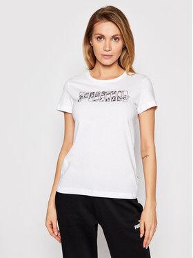 Puma Puma T-Shirt Rebel Graphic 585736 Bílá Regular Fit