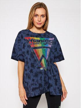 Wrangler Wrangler Marškinėliai Tee W7R3GFB28 Tamsiai mėlyna Oversize