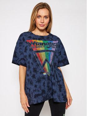 Wrangler Wrangler T-Shirt Tee W7R3GFB28 Tmavomodrá Oversize