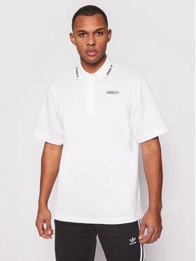 adidas adidas Тениска с яка и копчета Summer GN3835 Бял Regular Fit