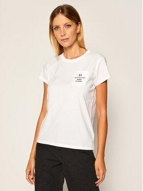 KARL LAGERFELD KARL LAGERFELD T-Shirt Address Logo Pocket 205W1721 Bílá Regular Fit