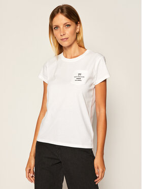 KARL LAGERFELD KARL LAGERFELD Тишърт Address Logo Pocket 205W1721 Бял Regular Fit