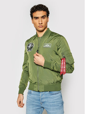 Alpha Industries Alpha Industries Μπόμπερ μπουφάν MA-1 TT Glow In The Dark 116102 Πράσινο Regular Fit