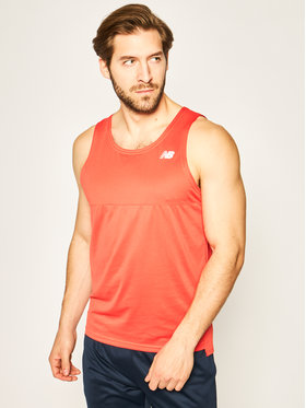 New Balance New Balance Tank top Acclerate Siglet MT93183 Pomarańczowy Athletic Fit