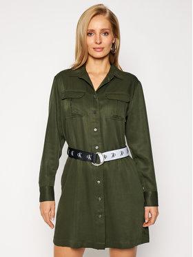 Calvin Klein Jeans Calvin Klein Jeans Košeľové šaty J20J214872 Zelená Regular Fit