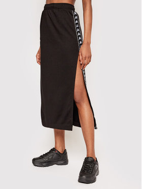 Kappa Kappa Midi suknja Ismini 309092 Crna Regular Fit