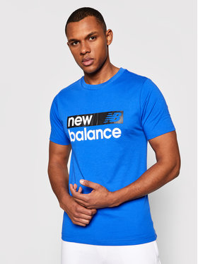 New Balance New Balance T-Shirt Classic Core Graphic MT03917 Niebieski Athletic Fit