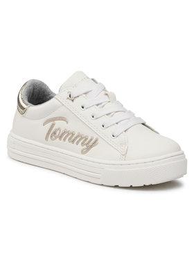 Tommy Hilfiger Tommy Hilfiger Sneakersy Low Cut Lace-Up Sneaker T3A4-31024-1190 M Biały
