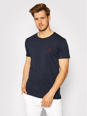 Gant Gant T-Shirt Contrast Logo 2053004 Granatowy Regular Fit