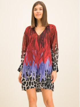Just Cavalli Just Cavalli Kleid für den Alltag S02CT1004 Dunkelrot Regular Fit