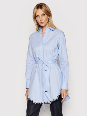 Pinko Pinko Marškiniai Scienze 1N1377 8610 Mėlyna Regular Fit