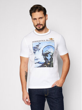 Aeronautica Militare Aeronautica Militare T-shirt 211TS1852J513 Bianco Regular Fit