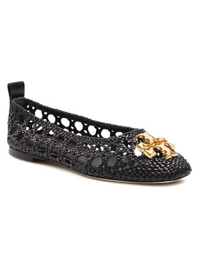 Tory Burch Tory Burch Ballerinas Eleanor Woven Ballet 81027 Schwarz