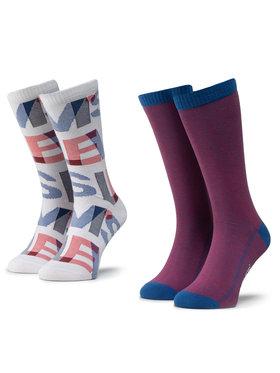 Levi's® Levi's® Set di 2 paia di calzini lunghi da uomo 37157-0282 Rosso