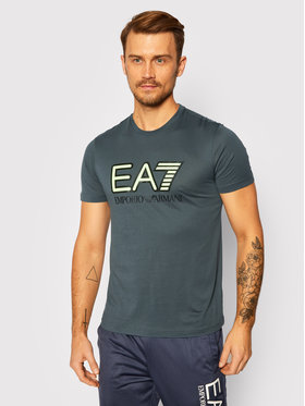 EA7 Emporio Armani EA7 Emporio Armani T-Shirt 6HPT81 PJM9Z 1984 Szary Regular Fit