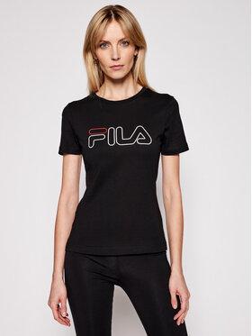 Fila Fila T-Shirt Ladan Tee 683179 Μαύρο Regular Fit