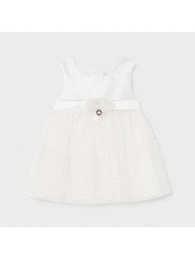 Mayoral Mayoral Elegantní šaty 1963 Bílá Regular Fit