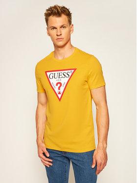 Guess Guess T-shirt Cn Ss Original Logo Tee M0YI71 I3Z11 Jaune Slim Fit