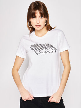 Diesel Diesel T-Shirt T-Sily-S6 00SEMF 0HERA Biały Regular Fit