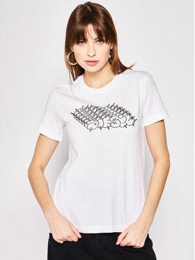 Diesel Diesel T-shirt T-Sily-S6 00SEMF 0HERA Blanc Regular Fit