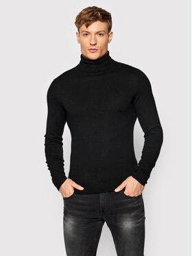 Guess Guess Bluză cu gât M1BR17 Z2VX2 Negru Regular Fit