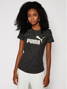 Puma Puma T-Shirt Essential Tee 584595 Czarny Regular Fit