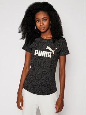Puma Puma Тишърт Essential Tee 584595 Черен Regular Fit