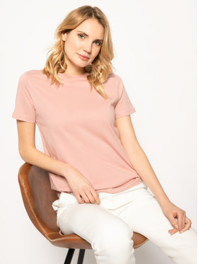 Calvin Klein Calvin Klein T-Shirt Embroidered Tee K20K202021 Różowy Regular Fit