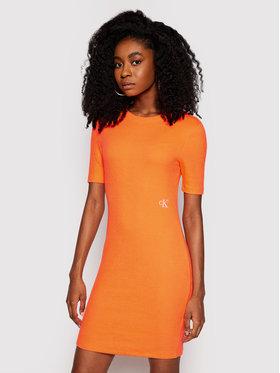 Calvin Klein Jeans Calvin Klein Jeans Každodenné šaty J20J215679 Oranžová Slim Fit