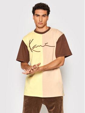 Karl Kani Karl Kani T-Shirt Signature Block 6030937 Żółty Regular Fit