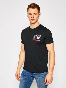 Armani Exchange Armani Exchange T-shirt 3KZTAA ZJA5Z 1200 Crna Slim Fit