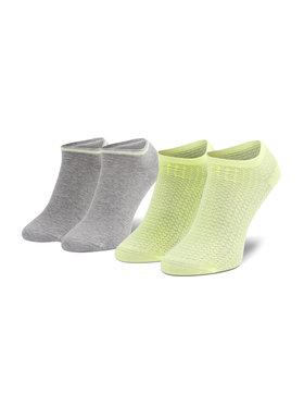 Tommy Hilfiger Tommy Hilfiger Sada 2 párů dámských nízkých ponožek 100002826 Šedá