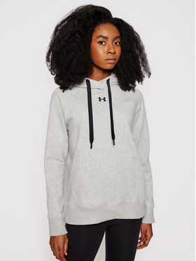 Under Armour Under Armour Bluza Rival 1356317 Szary Regular Fit