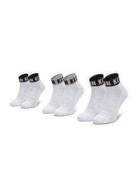 Calvin Klein Calvin Klein Súprava 3 párov vysokých ponožiek unisex 100001880 Biela