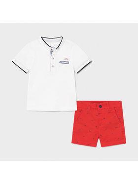 Mayoral Mayoral Set T-Shirt und Shorts 1253 Weiß Regular Fit
