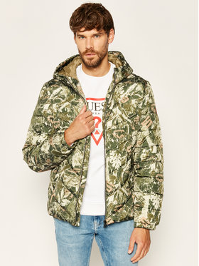 Guess Guess Пухено яке New Varsity M0YL45 WD2T0 Зелен Regular Fit