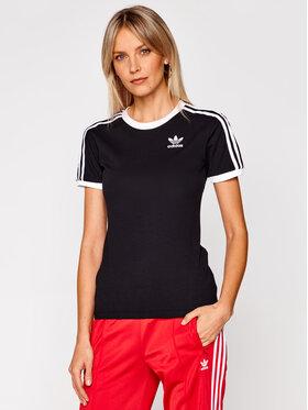 adidas adidas Tričko 3 Stripes Tee GN2900 Čierna Regular Fit
